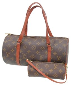 Louis Vuitton Papillon Monogram Papillon Satchel in Brown