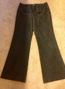 Kenneth Cole Sailor Nautical Flat Front Slimming Trouser 10 M Zip Trouser/Wide Leg Jeans-Dark Rinse