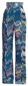 Eddy Anemian Eddy Anemian H&M 2014 Design Award Winner Floral Denim Deconstructed Highwaisted Pants Size US 8