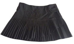 Charlotte Russe Mini School Girl Pleated Mini Skirt Black