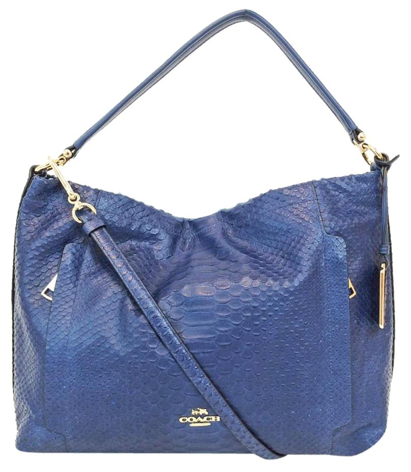 Coach Scout Python Leather Cross Body Bag