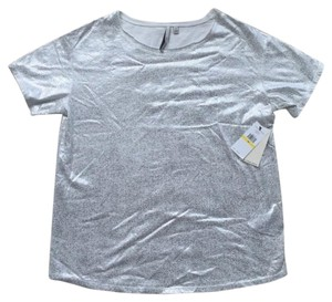 Calvin Klein Glitter T Shirt white and silver
