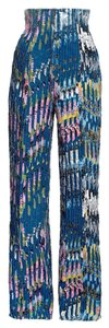 Eddy Anemian H&m High Fashion Super Flare Pants Blue