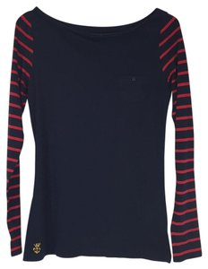 Ralph Lauren T Shirt Navy & Red