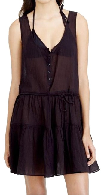 Item - Black New with Tags Henley Tank Sheer Dress Cover-up/Sarong Size 2 (XS)
