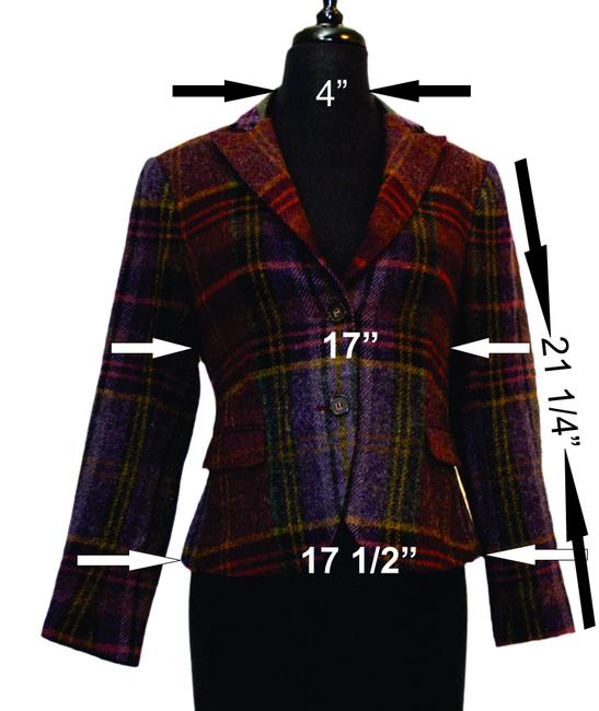 Theory burgandy / purp / must / wool Jacket
