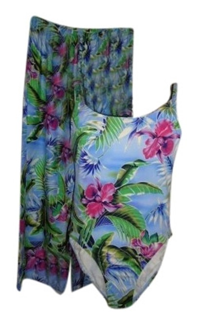 Preload https://item4.tradesy.com/images/jantzen-blue-hawaiin-print-no-tags-1-piece-pants-one-piece-bathing-suit-size-12-l-173323-0-1.jpg?width=400&height=650