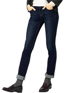 Uniqlo Straight Leg Jeans-Dark Rinse