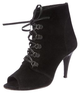 IRO Suede Ankle Lace Black Boots