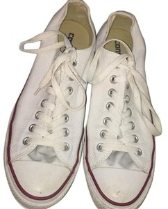 Converse White and red Athletic
