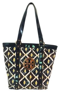Tory Burch Tote in Black, Yellow, White