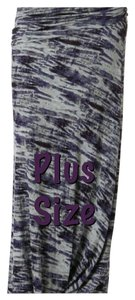 Plus Size Curvy Slimming Maxi Skirt Purple and Gray