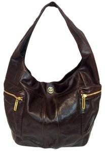 Tory Burch Vintage Large Brown Motorcycle Leather Hobo Bag