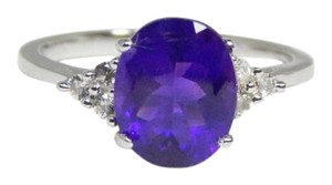 Marvelous Oval shape Starburst cut Amethyst Ring 4 CT Natural Precious Stone Sterling Silver
