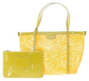 Dolce&Gabbana Leather Lace Tote in Yellow