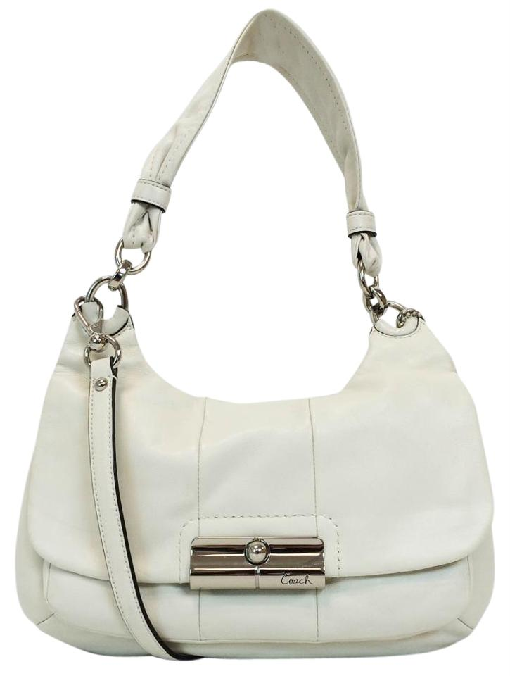 Coach 16931 Kristin Hippie Convertible White Leather Cross Body Bag 47 Off Retail