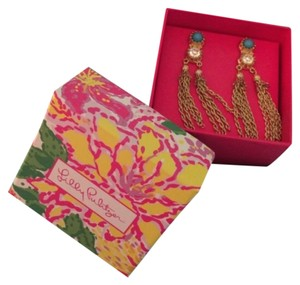 Lilly Pulitzer Lilly Pulitzer Gold Tassel Razzle Tazzel Earrings