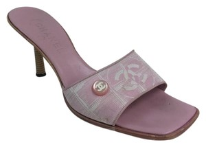 Chanel Canvas Monogram Pink Sandals