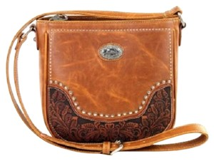 Montana West Tooled Leather Cross Body Bag