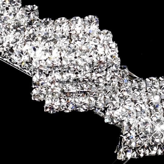 Radiant Zigzag Rhinestone Barrette - Special Occasion Prom Party Hair Accessory