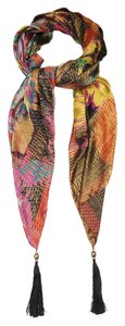 Etro ETRO Floral jacquard Tassel-ends Scarf