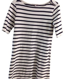 Gap short dress White and navy on Tradesy