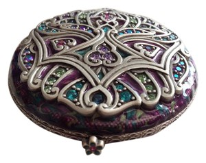 Jay Strongwater Enamel and Crystal Deco Compact