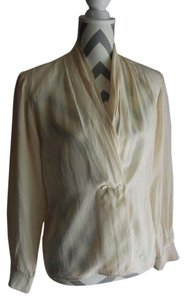 Neiman Marcus Silk Top Cream