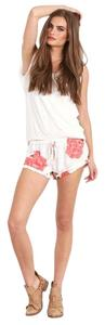 Winston White Floral Mini/Short Shorts Blush