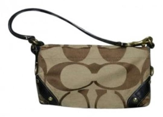Coach Purse Handbag Brown Tan/ Khaki Clutch