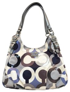 Coach Multi Sateen Op Art Sequin Maggie Shoulder Bag