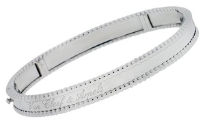 Van Cleef & Arpels Van Cleef & Arpels Perlee Signature White Gold Bangle Bracelet