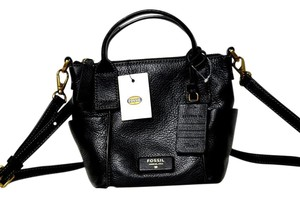 Fossil Satchel in Black