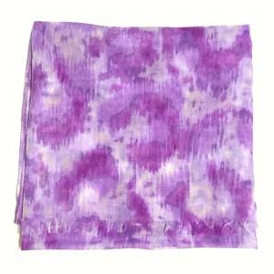 Ann Taylor LOFT Watercolor Animal Print Large Soft Lightweight Wrap Scarf Purple