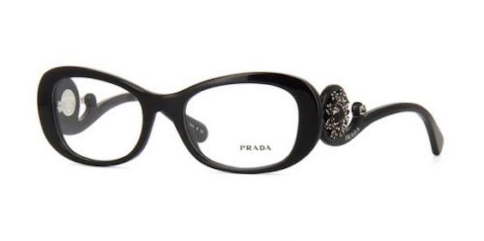 0ec7cfd3c3cb Prada PRADA Ornate Baroque Eyeglasses Black with Hand Set Crystals VPR 10Q  1AB101 - FREE 3. 123456789101112