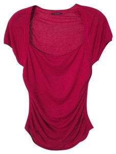 Elie Tahari Pink Wine Silk Sweater