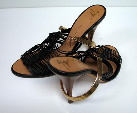 Giuseppe Zanotti Summer Party Glamour Chic Brown, Gold Sandals