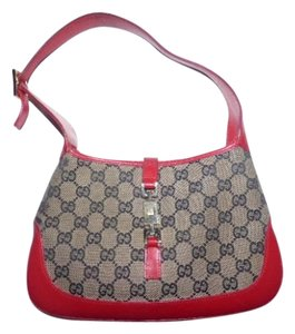 Gucci Jackie O Gold Hardware Large Leather Push Button Lock Hobo Bag