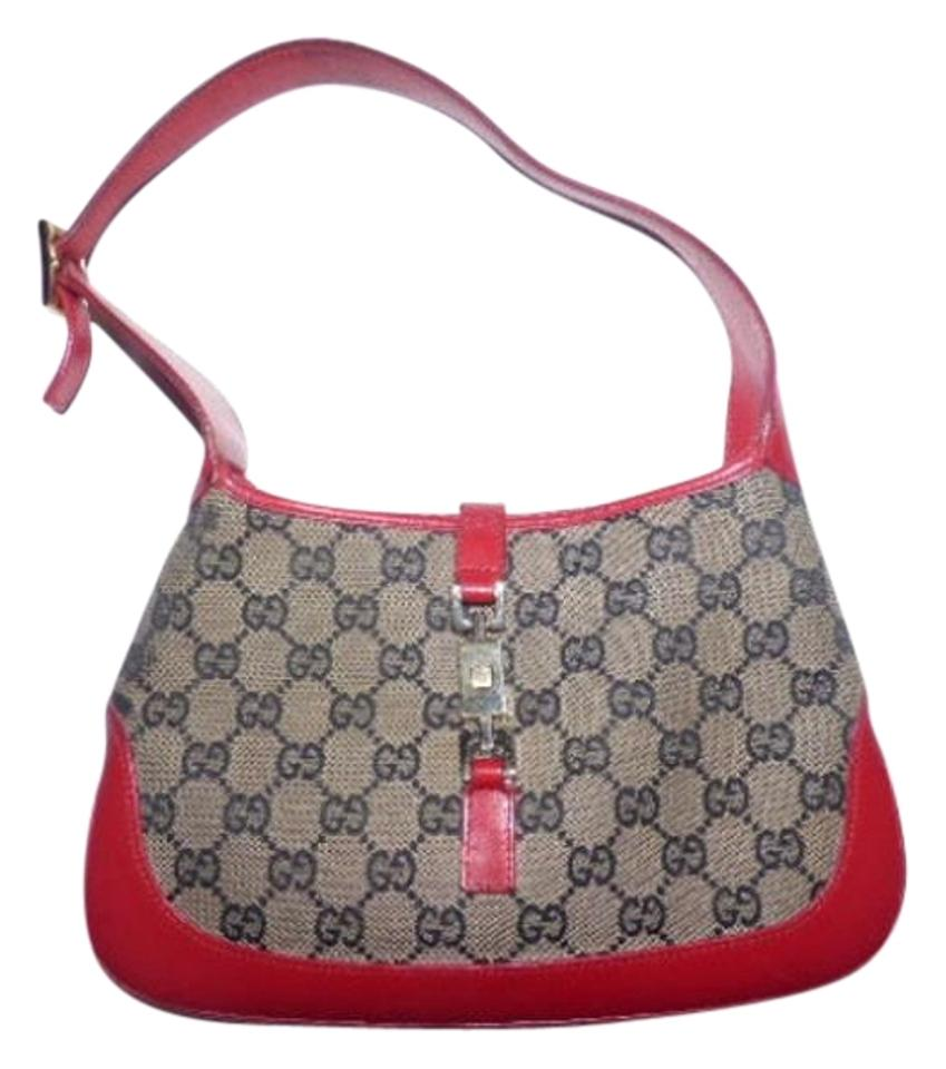 2c253e4bd91f Gucci Jackie O Gold Hardware Large Leather Push Button Lock Hobo Bag Image  0 ...