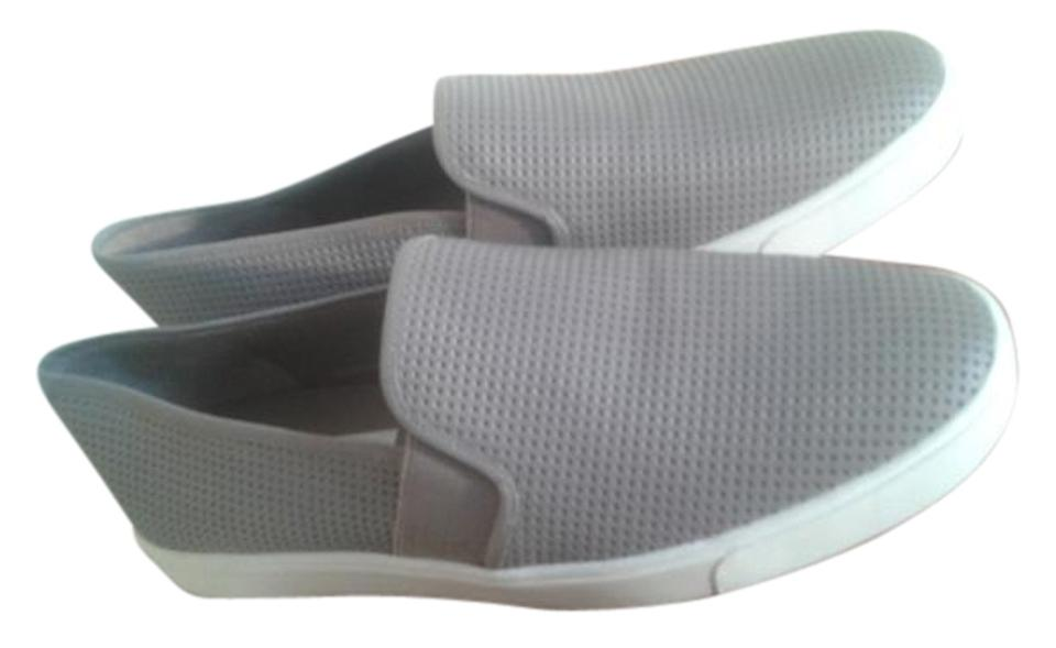 Vince Sneakers Grey Perforated Leather Flats Sneakers Vince 5dfb92