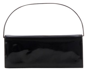 Gucci Patent Suede Black Clutch