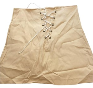 O-mighty Mini Skirt Beige