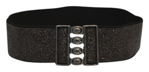 Designers Originals DESIGNER black shimmer wide stretch lady's belt size S/M