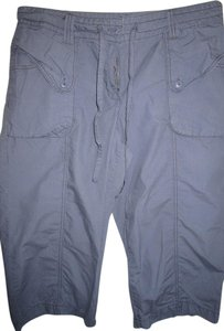 Izod Hiking Izond Grey Capris Blue