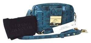 Versace Snake Embossed Crossbody New Shoulder Bag