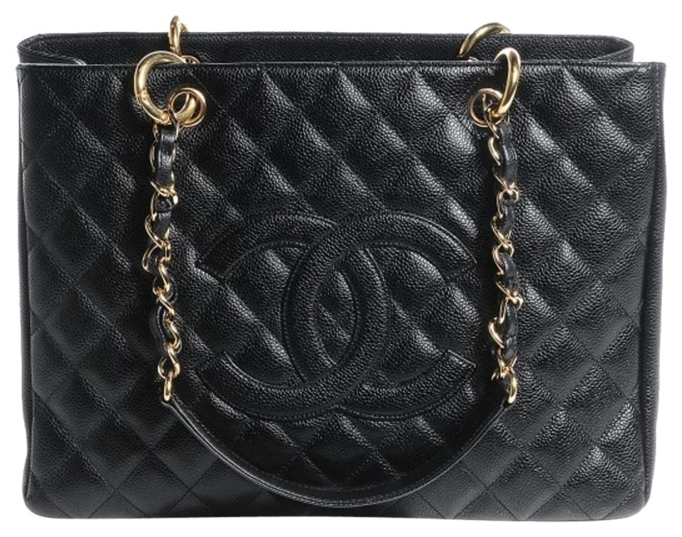 3b4fc86384ee97 Chanel Grand Shopping Gst Quilted Classic Timeless Shoulder Cc Black ...