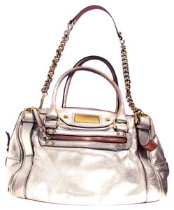 Dolce&Gabbana Gold Silver Tote Satchel in Metallic