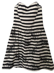 Lilly Pulitzer short dress Black and White stripe on Tradesy