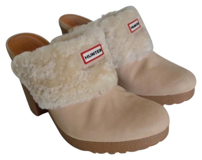 Item - Cream Shearling Trimmed-mules Mules/Slides Size US 7 Regular (M, B)