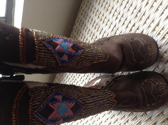 Falconhead Boots & belts.with dust bag. Falcolnhead Brown Boots